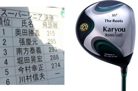 Karyouドライバーの飛距離性能が実証されました!